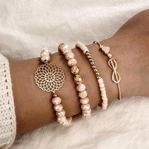 3/$20 New Set of 4 Beaded Bracelet Set